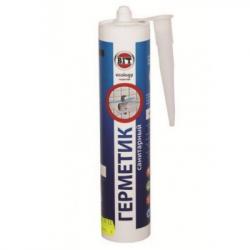 Герметик акриловый (мастика) для внутренних и наружных работ санитарный белый 0,40кг VGT(карт)