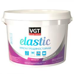 Краска трещиностойкая резиновая elastic белая 15кг VGT