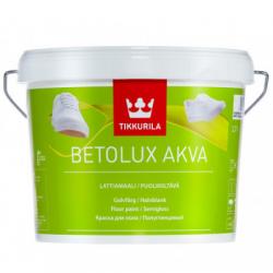 Краска для пола полуглянцевая BETOLUX AKVA C 2.7л TIKKURILA