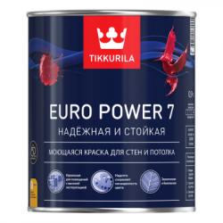 Краска для стен и потолков моющаяся EURO POWER 7 A 0,9л TIKKURILA