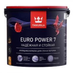 Краска для стен и потолков моющаяся EURO POWER 7 C 2,7л TIKKURILA