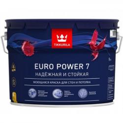 Краска для стен и потолков моющаяся EURO POWER 7 C 9л TIKKURILA