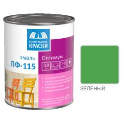 "Эмаль ПФ-115 ""ОПТИМУМ"" зеленая 0,9кг Лен. краски"