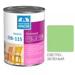 "Эмаль ПФ-115 ""ОПТИМУМ"" светло-зеленая 0,9кг Лен. краски"