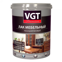 Лак для мебели полиуретановый глянцевый 2,2кг VGT Premium (в коробке 4шт)