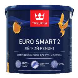 Краска для стен и потолков EURO SMART 2 VVA 0.9л TIKKURILA