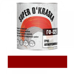 Грунт ГФ-021 красно-коричневый 1.9кг super okraska