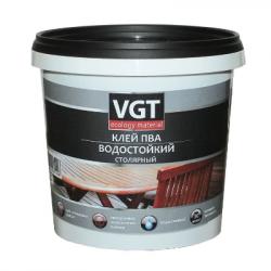 Клей ПВА водостойкий 1кг VGT(в коробке 6шт)