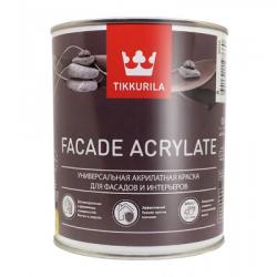 Краска акриловая универсальная FACADE ACRYLATE база A 0,9л TIKKURILA