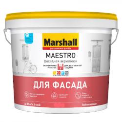 Краска акриловая фасадная Maestro BW 4,5л MARSHALL