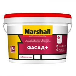 Краска в/д Фасад+ глубокоматовая BW 9л MARSHALL