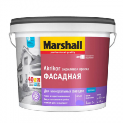 Краска фасадная структурная Akrikor BW 4.5л MARSHALL