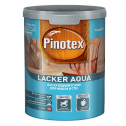 Лак Lacker Aqua 70 глянцевый 1л PINOTEX