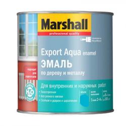 Эмаль Export Aqua белая полуматовая 0,5л MARSHALL