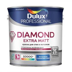 Краска в/д Prof Diamond Extra Matt глубокоматовая BW 2.5л DULUX
