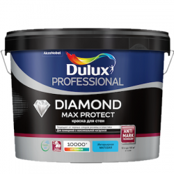 Краска в/д Prof Diamond Max Protect матовая BC 2,25л DULUX